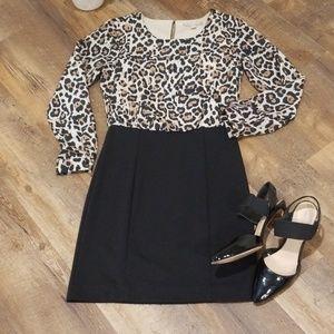 Banana Republic Leopard Dress Size